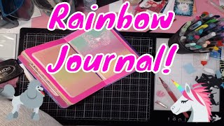 Working on a Rainbow Unicorn Journal....