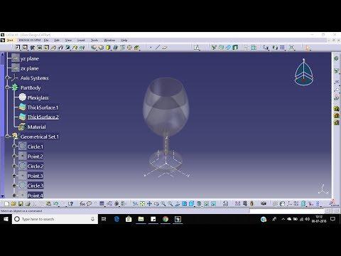 Design Of Glass   Multisection Surface   Generative Shape Design   Catia V5