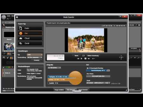 Export als Disc in Pinnacle Studio 16 und 17 Video 78 von 114