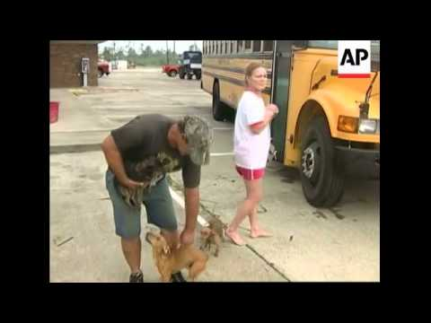 Aftermath of Hurricane Ike, people in shelters, Homeland Security Sec