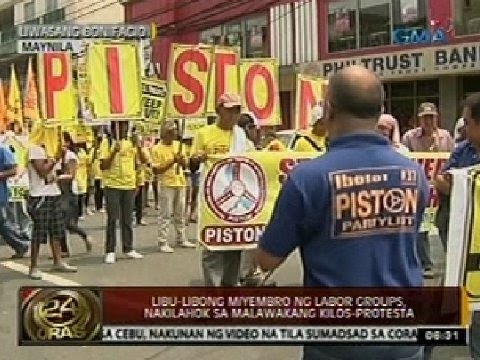 24 Oras: Libu-libong miyembro ng labor groups, nakilahok sa malawakang kilos-protesta