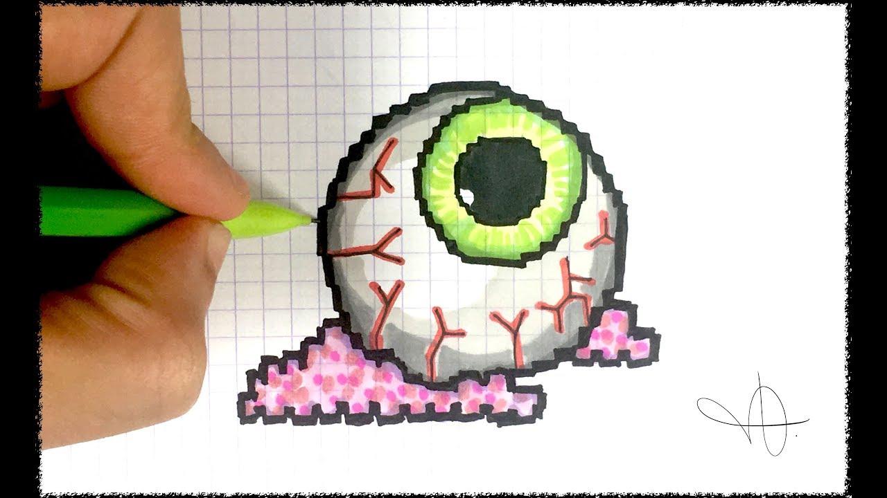 Draw Halloween Eye Pixel Art