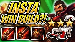 LAWNMOWER ⭐⭐⭐ GRAVES INSTANT WIN BUILD! DOUBLE RFC! | Teamfight Tactics | TFT | LoL Auto Chess
