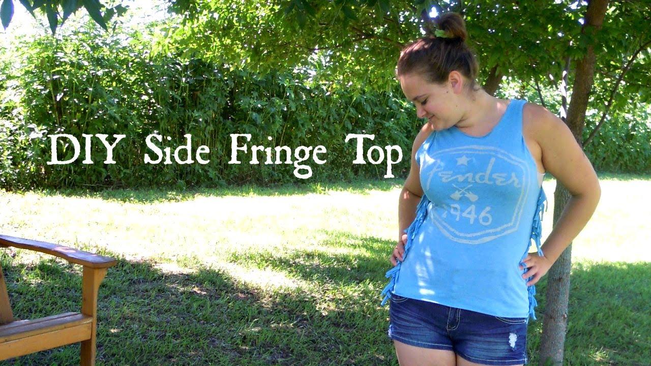 DIY Side Fringe Top - YouTube