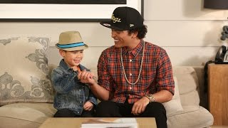 There was a very special moment backstage when Bruno Mars got to si...