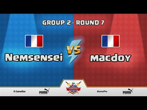 ESWC Gamescom 2017 Clash Royale - Group 2 - Round 7 - Nemsensei vs macdoy