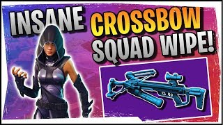 Hysteria | Fortnite | The Most Insane Crossbow Squad Wipe! - Duos with Roxy