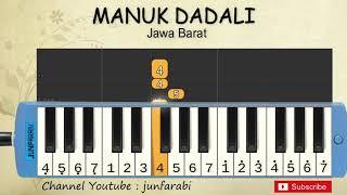 not pianika manuk dadali - lagu daerah nusantara tradisional indonesia - tutorial pianika not angka