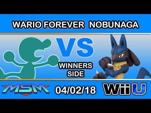 MSM 140 - tHB   wario forever (Mr. Game & Watch) Vs. MKSP   nobunaga (Lucario) Winners Side