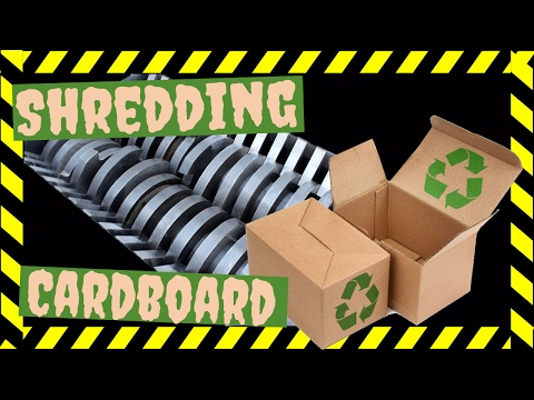 Cardboard Industrial Shredder Waste Recycling Recycle