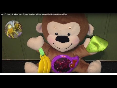 2009 Fisher Price Precious Planet Giggle And Games Gorilla Monkey Musical Toy