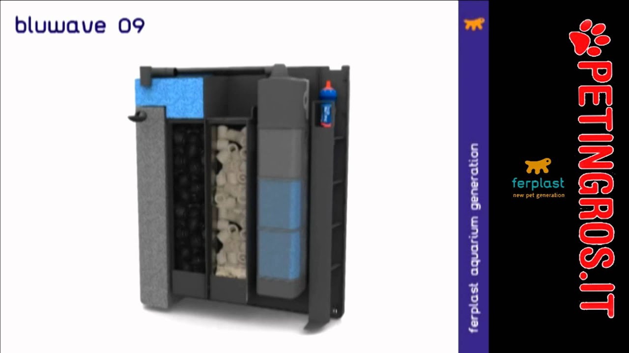 Petingros filtro interno biologico per acquari blu wave for Filtro per acquario tartarughe