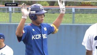 Highlights: Korea v Italy - U-18 Baseball World Cup 2015