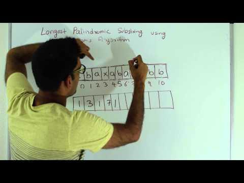 Longest Palindromic Substring Manacher's Algorithm