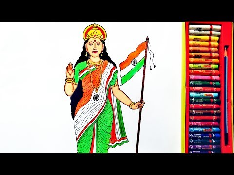 How To Draw Bharat Mata Easily Picture | Independent Day Drawing | By Drawing Art
