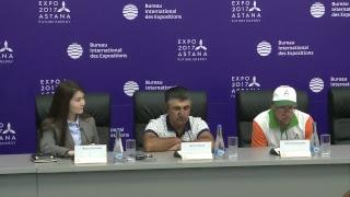 EXPO-2017. Пресс-конференция с участием путешественников из Армении и Швеции