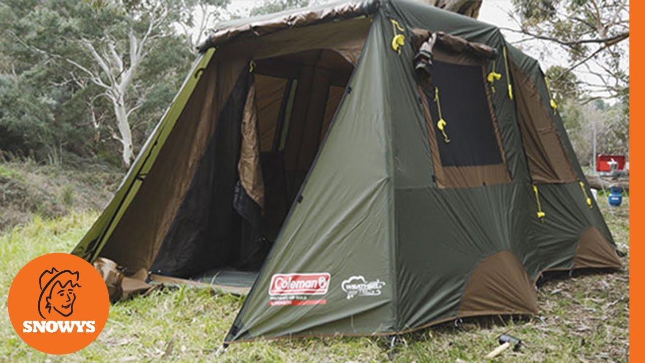 c3faa1c94df Coleman Instant Up Gold 8P Tent - YouTube