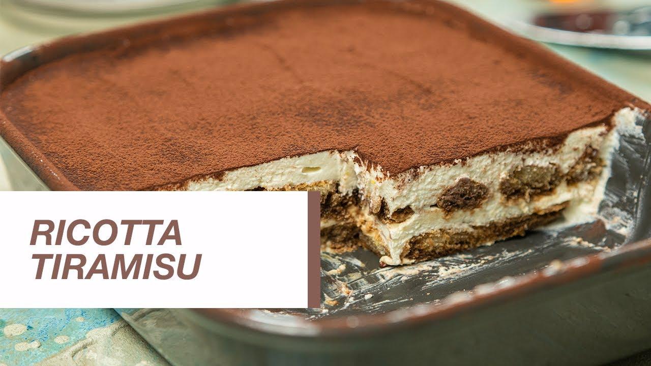 Tiramisu Recipe With Ricotta Cheese.Tiramisu Recipe How To Make Tiramisu Ricotta Tiramisu Food Channel L Recipes Youtube