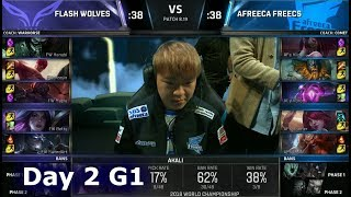 FW vs AFS | Day 2 Group Stage S8 LoL Worlds 2018 | Flash Wolves vs Afreeca Freecs