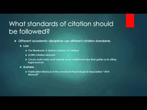 Introduction to Legal Citation With Voice