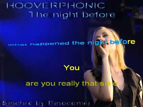 Hooverphonic  - The night before - Karaoke