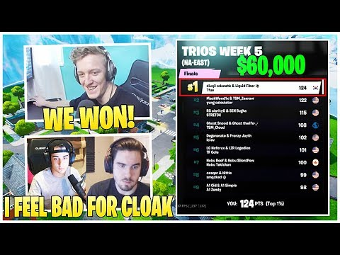 Tfue Trio Comes In 1st Place & *WINS* $60,000 in the Fortnite Champion Series | FORTNITE HIGHLIGHTS