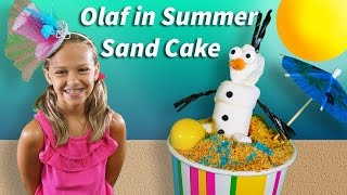 How To Make Olaf In Summer Sand Cake