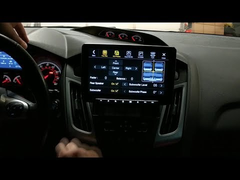 Alpine Halo9 installed in a Focus ST Install & Demo