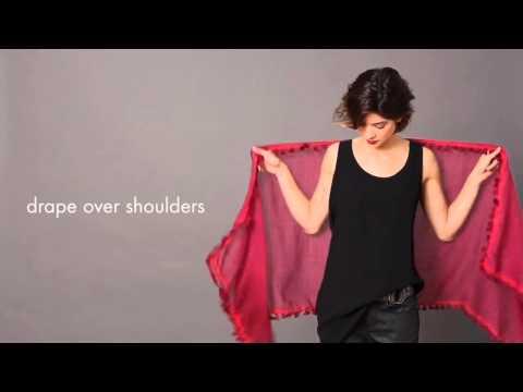 Как завязать шарф зимой. Часть 1