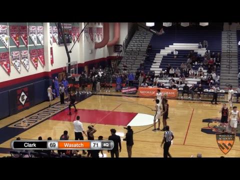 Boys Varsity Basketball: Wasatch Academy vs. Clark High School
