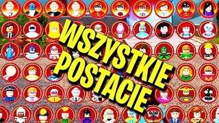 LEGO INIEMAMOCNI - WSZYSTKIE POSTACIE - ALL CHARACTERS
