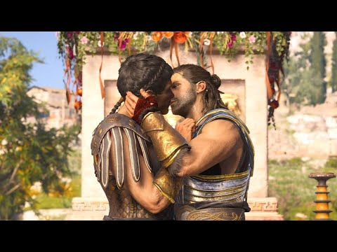 Assassin S Creed Odyssey Alexios Thaletas Gay Kiss Romance