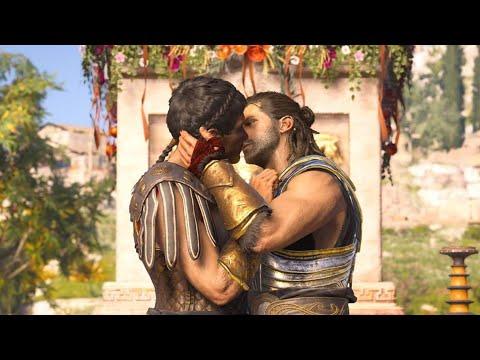 Assassin S Creed Odyssey Alexios Thaletas Gay Kiss Romance