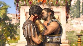 Assassin's Creed Odyssey / Alexios & Thaletas Gay Kiss / Romance Friendzoned