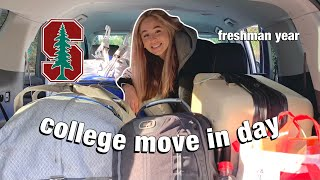 STANFORD MOVE IN DAY 2021 (freshman year college vlog)