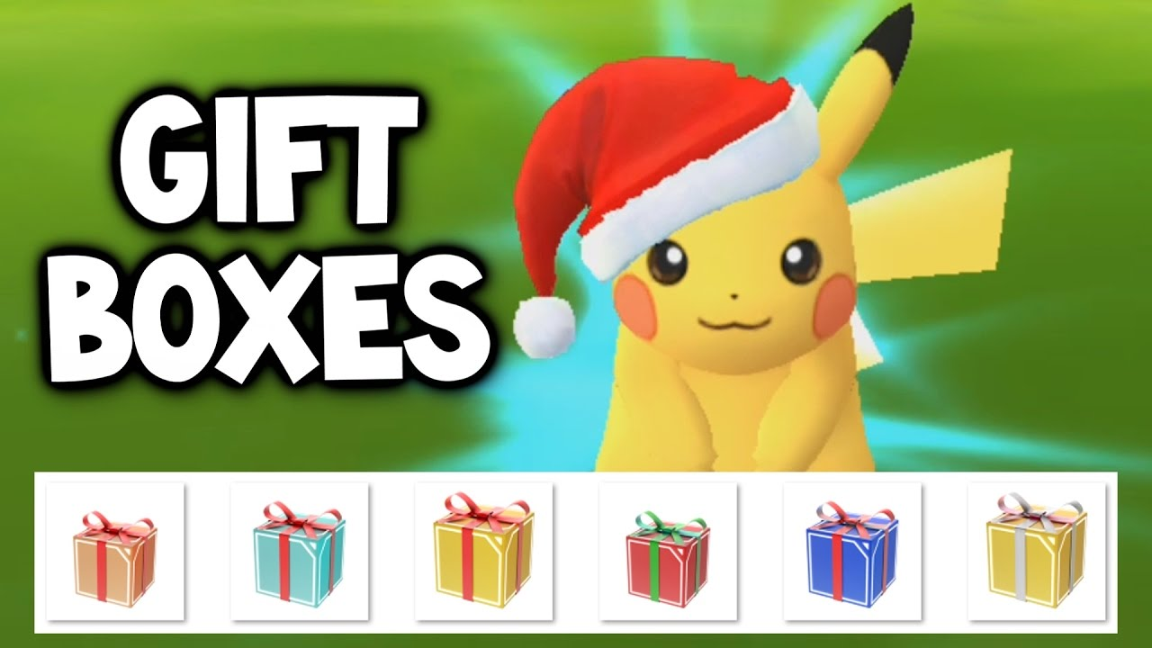 Pokemon Go New Christmas Event Special Gift Boxes