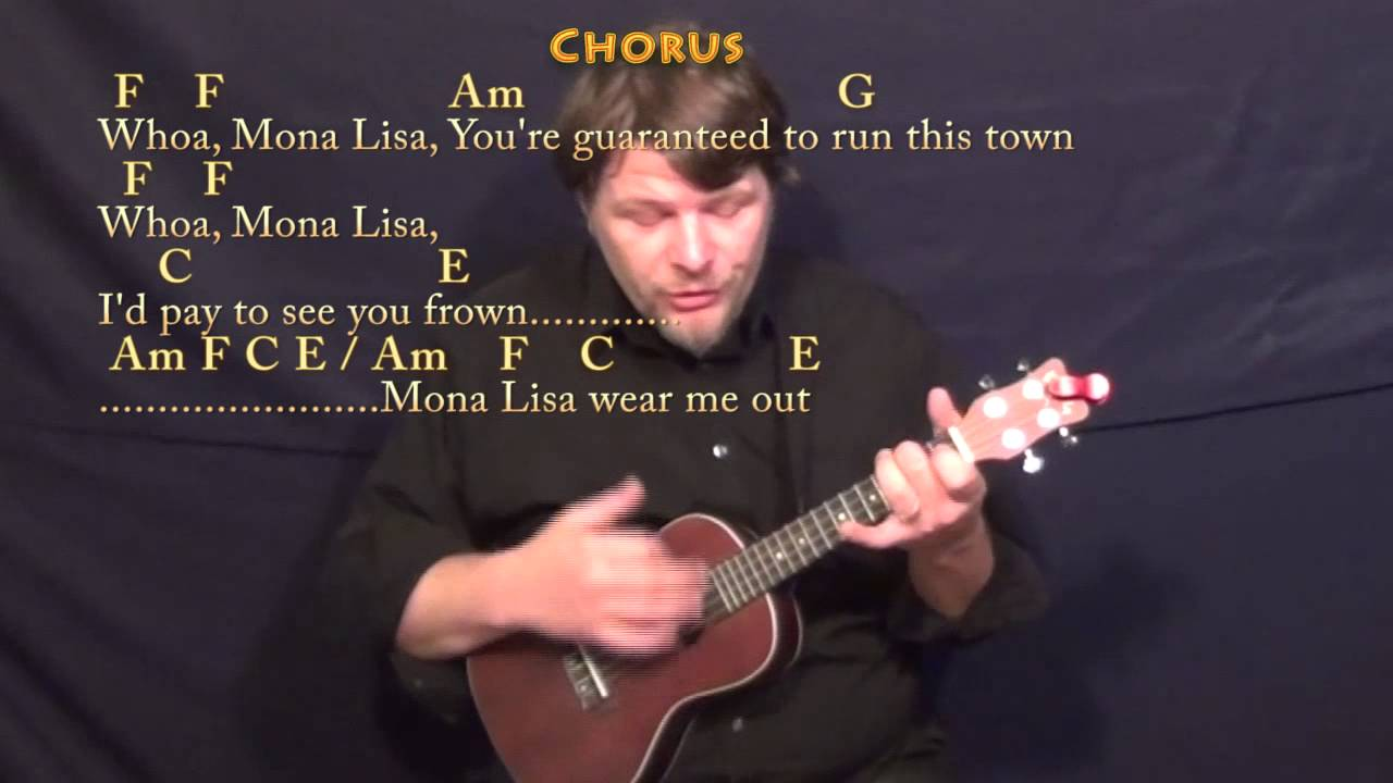The Ballad of Mono Lisa (PANIC! At the Disco) Ukulele Cover Lesson with Chords/Lyrics - YouTube