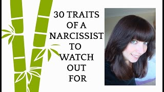 30 common traits of a narcissist