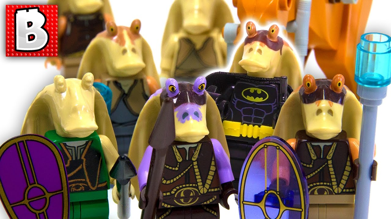 Every Lego Gungan And Jar Jar Minifigure Ever Made Star Wars Collection Review