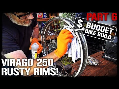 Virago 250 Build - PART 6. Rusty Rims & Chain Guard!