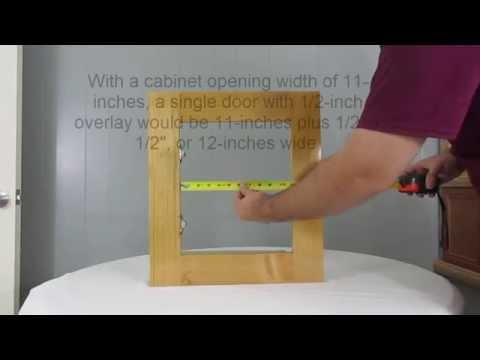 How to measure cabinet openings for new single and double doors