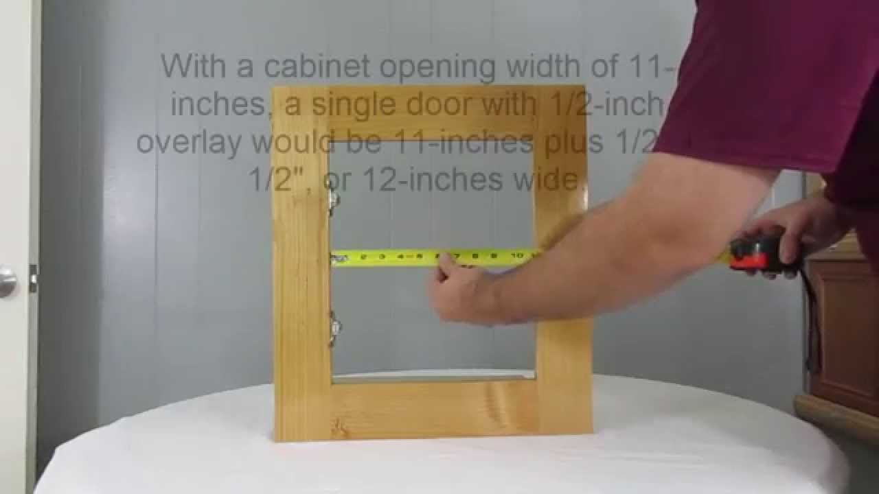 How to measure cabinet openings for new single and double doors ...