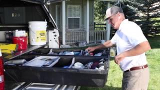 Decked Pickup Truck Bed Storage System