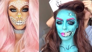 Easy Halloween Makeup Tutorial | Smokey Skull (part-1)