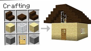 CRAFTING A HOUSE IN MINECRAFT!