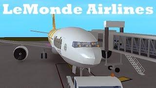 ROBLOX | LeMonde Airlines Boeing 777-200 Flight