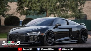 Audi R8 V10 Plus CRAZY ACCELERATIONS - Capristo exhaust, hard revs, accelerations and 0-338 km/h!