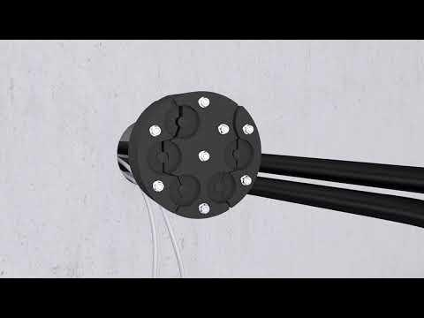 Rohrdurchführungssystem POLO-RDS evolution: Einbau Mehrfachdichtelement in Kernbohrung