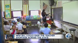 New bill could ease the teacher shortage across the state