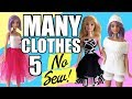 How to make No Sew Barbie Clothes. PART 5 Very Easy! Crafts with Dolls
